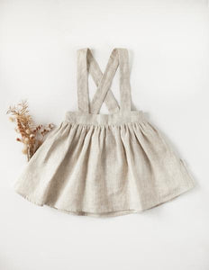 Karibou Coco 100% Linen Suspender Skirt - Natural Edition