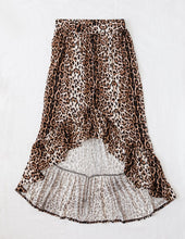 Load image into Gallery viewer, Karibou Wild And Free Ladies Leopard Print High-Low Skirt