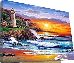 Lighthouse Painting by Numbers - Paint by Numbers Kits