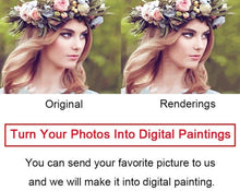 Load image into Gallery viewer, Custom Paint by Numbers Kit - Paint your Beautiful Memories - Paint by Numbers Kits