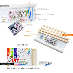 Birch Forest Landscape Painting - Paint by Numbers Kits