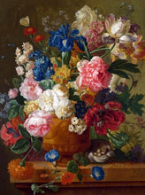 Load image into Gallery viewer, Colorful Flowers in Vintage Vase DIY Painting - Paint by Numbers Kits