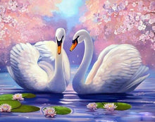 Load image into Gallery viewer, My Precious Paint by Numbers Lovely Swan Modern Calligraphy Painting - Paint by Numbers Kits