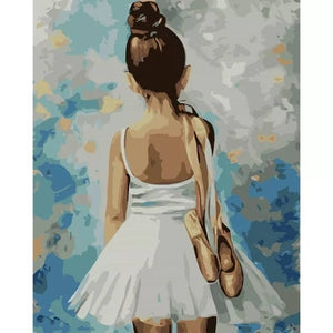 Girl Wall Art Paint by Numbers - Paint by Numbers Kits