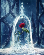 Load image into Gallery viewer, Lonely Rose - Beauty and the Beast Beautiful Painting By Numbers - Paint by Numbers Kits