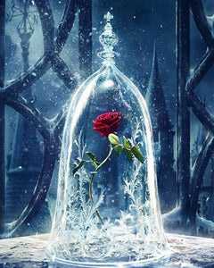 Lonely Rose - Beauty and the Beast Beautiful Painting By Numbers - Paint by Numbers Kits