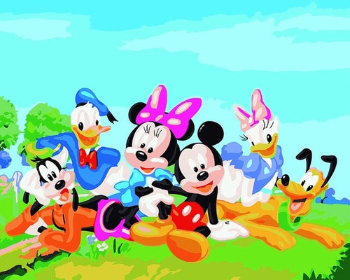 Mickey Mouse Cartoon Heroes Painting kit - Paint by Numbers Kits