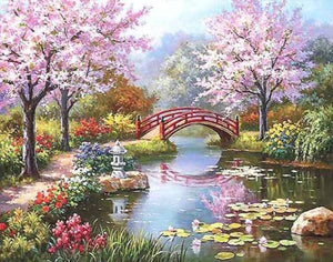 Enormous Beauty of Spring Season - Paint by Numbers - Paint by Numbers Kits
