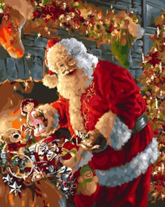 Santa Claus Gifts - Christmas Painting - Paint by Numbers Kits