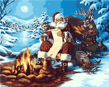 Load image into Gallery viewer, Santa's Treat - Christmas Painting - Paint by Numbers Kits