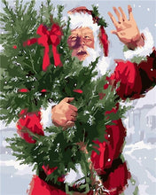 Load image into Gallery viewer, Merry Christmas Santa Painting - Paint by Numbers Kits