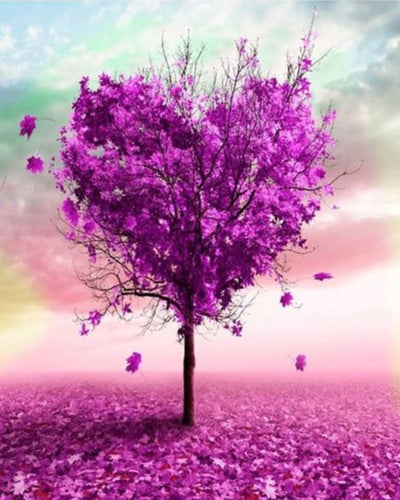 Purple Heart Tree - Paint by Numbers Kits