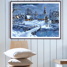 Load image into Gallery viewer, Forest Houses During Winter - Paint by Numbers Kits
