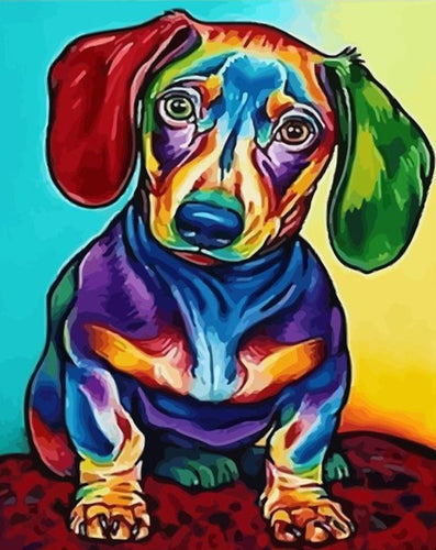 Beautiful Colorful Dog - Paint by Numbers Kits