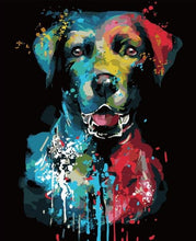 Load image into Gallery viewer, Abstract Dog painting by numbers - Paint by Numbers Kits