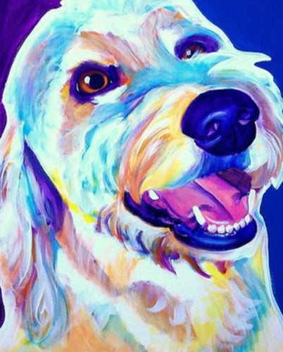 Laughing Dog Painting by Numbers - Paint by Numbers Kits