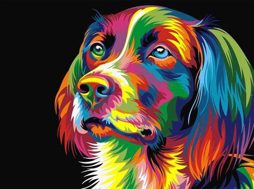 Beautiful Dog Cartoon Painting by Numbers - Paint by Numbers Kits