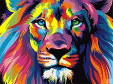 Load image into Gallery viewer, Beautiful Lion Oil on Canvas Painting by Numbers - Paint by Numbers Kits