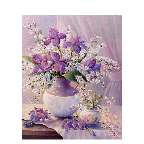 Mate Field Purple Flowers - Paint by Numbers Kits