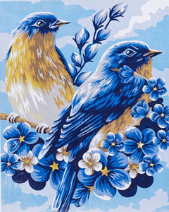 My Precious Paint by Numbers Blue Bird Flower Drawing On Canvas - Paint by Numbers Kits