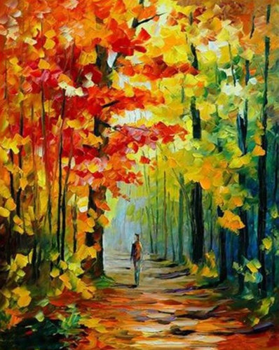 A Man Walking in the Forest - Paint by Numbers Kits