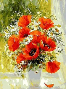 Flowers Paintings by Numbers - Paint by Numbers Kits