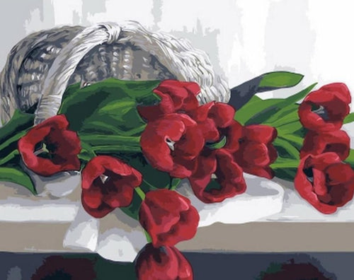 Red Flowers - Paint by Numbers Kits