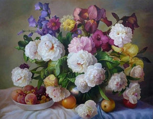 14 Unframed FLORAL Paintings by Numbers - Paint by Numbers Kits