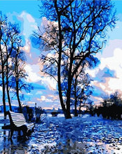 Load image into Gallery viewer, Blue Park Beautiful Trees - Paint by Numbers Kits