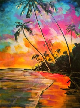 Colorful Evening on the Ocean - Paint by Numbers Kits