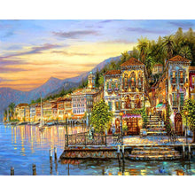 Load image into Gallery viewer, Town Landscape Paint by Numbers - Paint by Numbers Kits