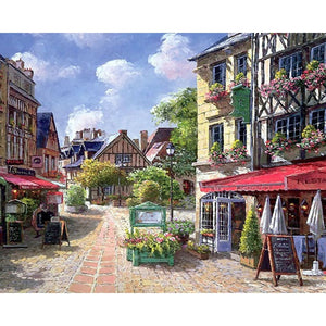 Town Landscape Paint by Numbers - Paint by Numbers Kits