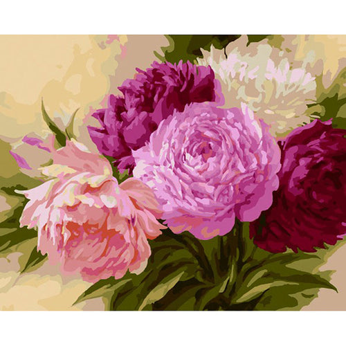 Colorful Flowers - Paint by Numbers Kits