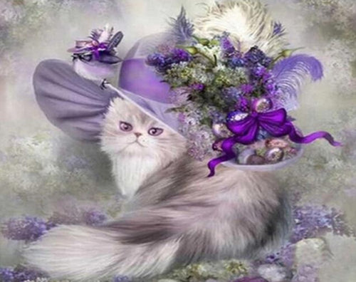 Royal Cat with a Beautiful Hat - Painting by Numbers - Paint by Numbers Kits