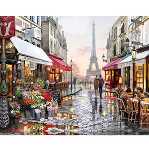A Beautiful street in Paris - Paint by Numbers Kits