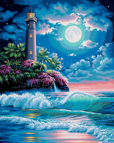 Ocean Waves in Moonlight - Painting by Numbers - Paint by Numbers Kits