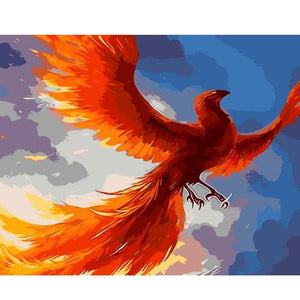 The Phoenix - A Mythical Bird - Paint by Numbers Kits