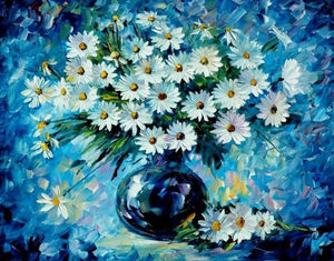 A Lovely Bouquet of White Daisies - Paint by Numbers Kits