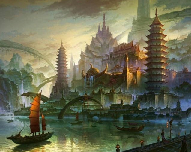 A Wonderful Empire Fantasy Painting - Paint by Numbers Kits