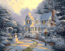 Load image into Gallery viewer, House in the Forest - Christmas Painting by Numbers - Paint by Numbers Kits