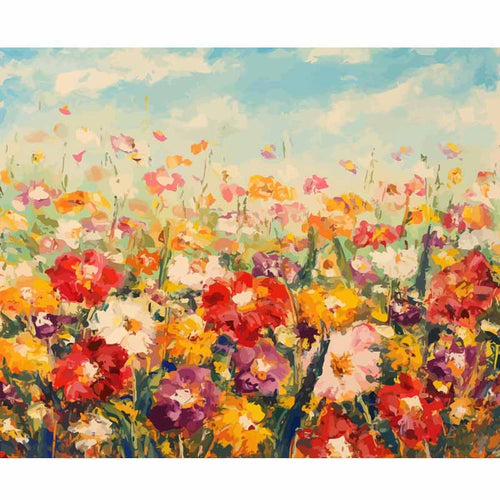 Floral Field - Paint by Numbers Kits