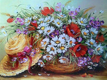 Load image into Gallery viewer, Beautiful Flowers with Hat - Paint by Numbers Kits