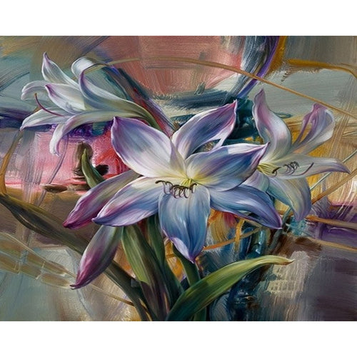 Lily Flowers - Paint by Numbers Kit - Paint by Numbers Kits