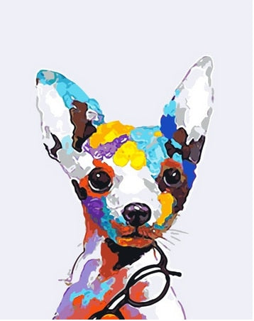 Colorful Puppy - Paint by Numbers Kits