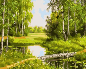 Lovely Nature Landscape pictures by numbers - Paint by Numbers Kits