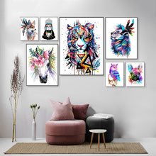Load image into Gallery viewer, Abstract Horses Painting by Numbers - Paint by Numbers Kits