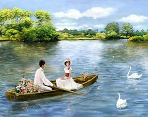 Couple on the Boat - Painting by Numbers - Paint by Numbers Kits