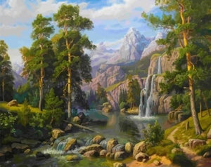 Painting By Numbers Nature Landscape pictures - Paint by Numbers Kits