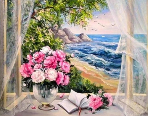 A Romantic Breeze on the Beach - Paint by Numbers Kits