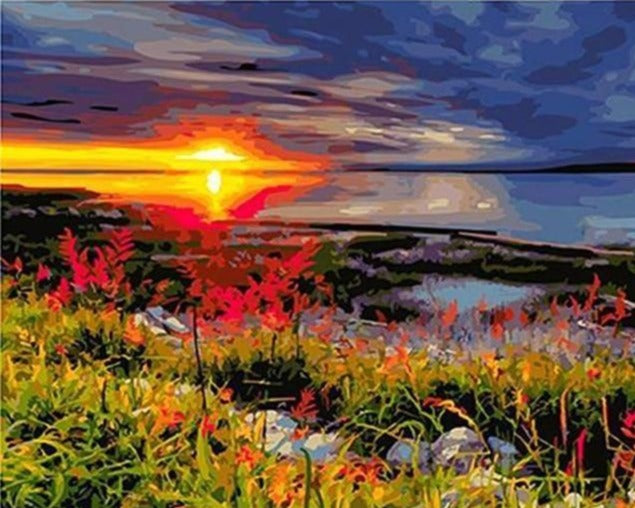 Sunset of Spring Season - Paint by Numbers Kits